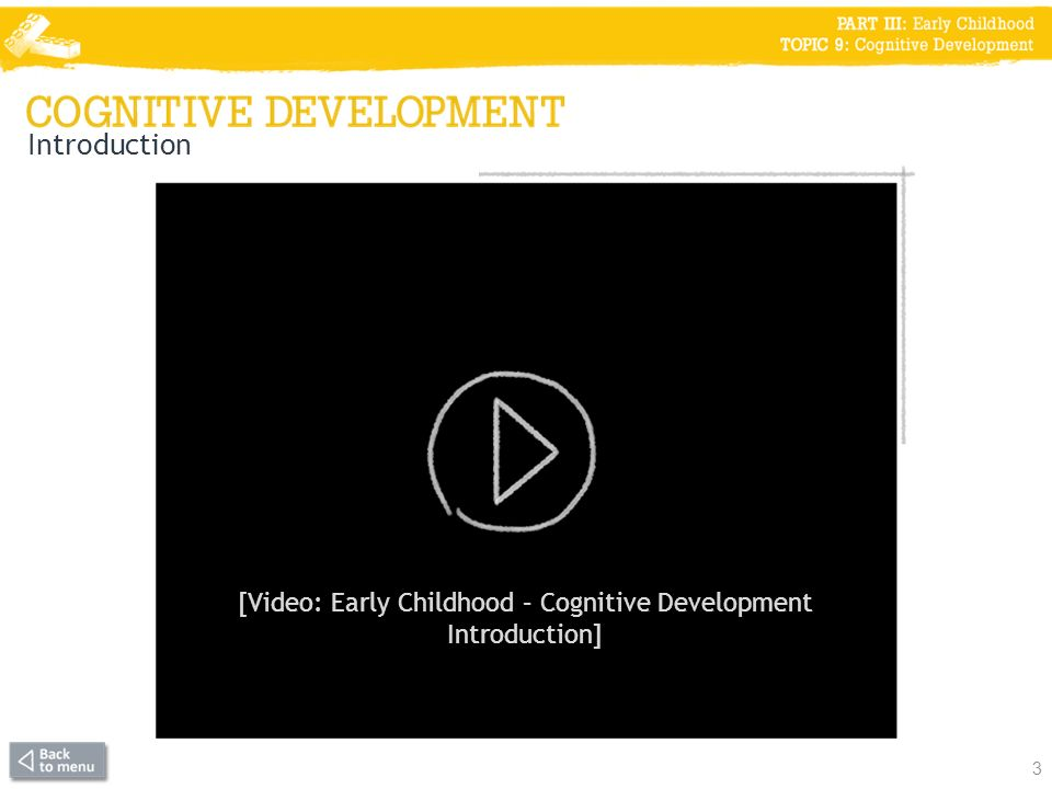 [Video: Early Childhood – Cognitive Development Introduction]